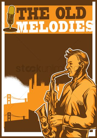Brass : The old melodies poster design