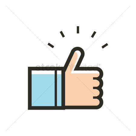 User interface : Thumbs up icon
