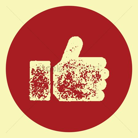 Vintage : Thumbs up icon