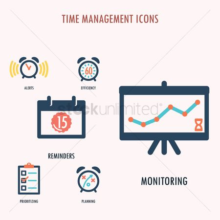 Minute : Time management icons