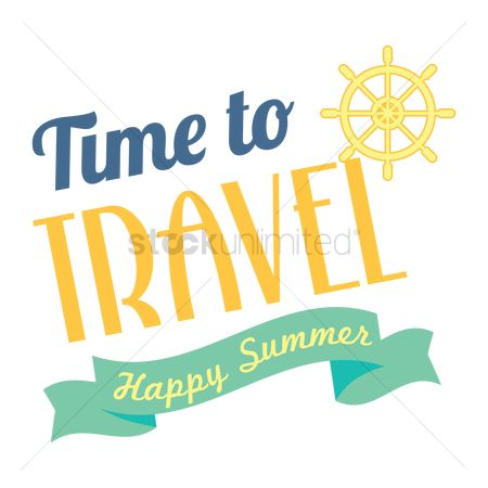Happy summer : Time to travel poster