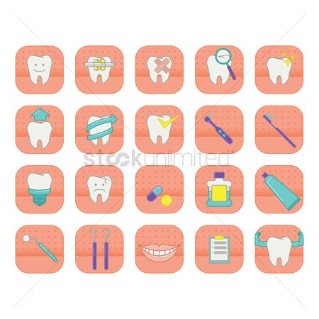 Tooth with braces : Tooth collection
