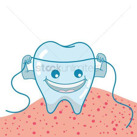 Dentist : Tooth with floss