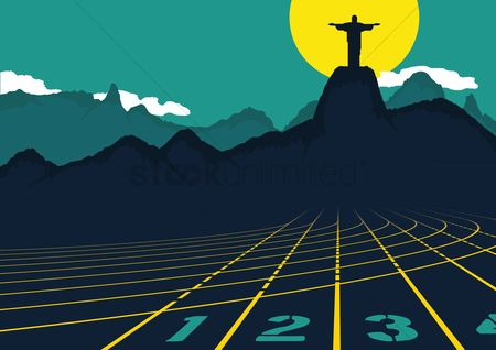 Athletes : Track and field with christ the redeemer