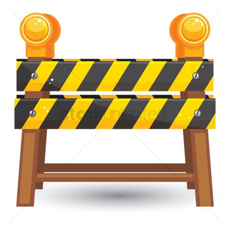 Wooden sign : Traffic barrier