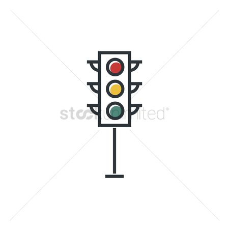 Caution : Traffic light