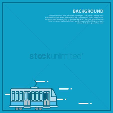 Tram : Transport background