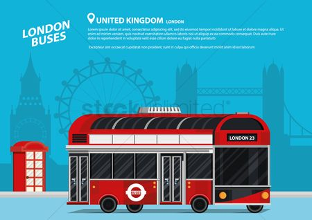 Touring : Travel concept with london bus