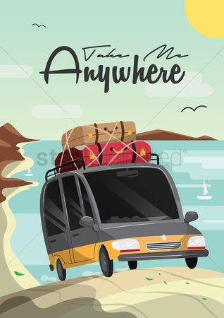 Touring : Travel poster