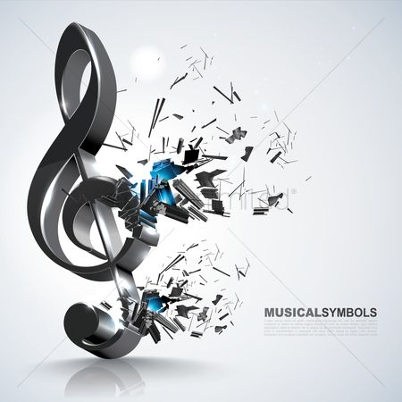 Dimensional : Treble clef music symbol