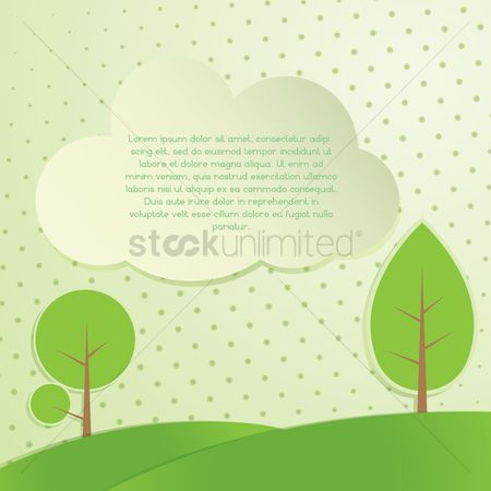 Brochure : Trees banner background
