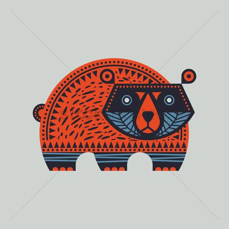 Huge : Tribal bear design