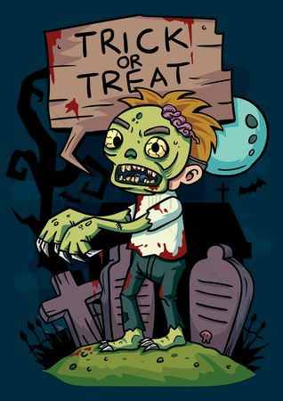 Moon : Trick or treat zombie