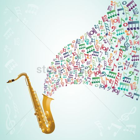 Trumpets : Trumpet with musical notes coming out
