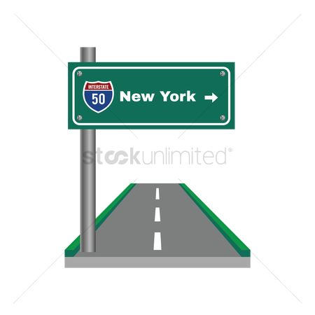 Marker : Two-digit interstate route shield  new york