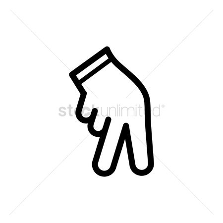 Pitcher : Two fingers pitch sign