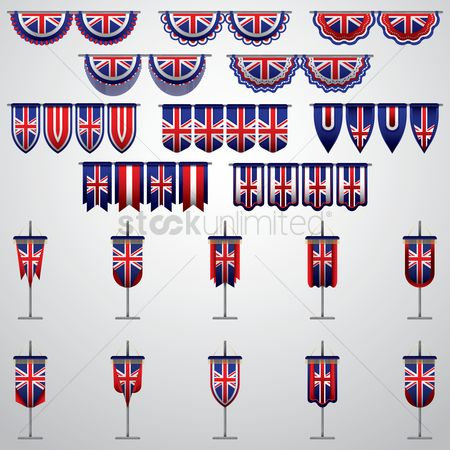 Nationality : United kingdom flag pennants and buntings