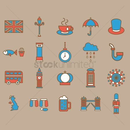 Binge : United kingdom general icons