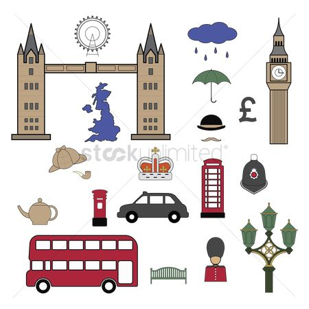 Royal : United kingdom icons set