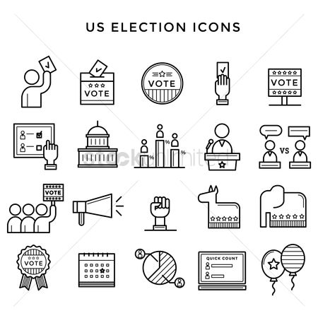 United states : Us election icons