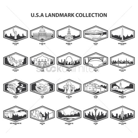 United states : Usa landmarks collection