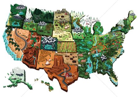 Mountains : Usa map