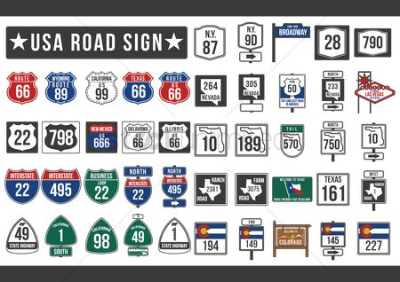 Shield : Usa road sign