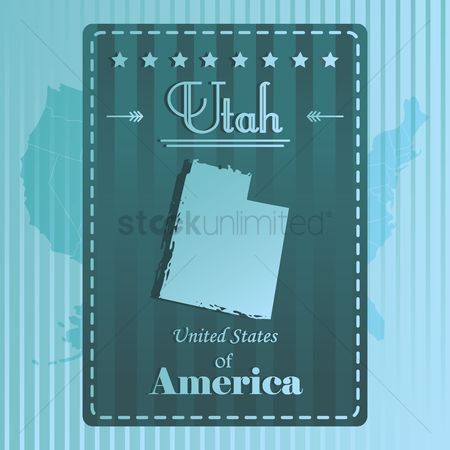 Utah map : Utah state map label