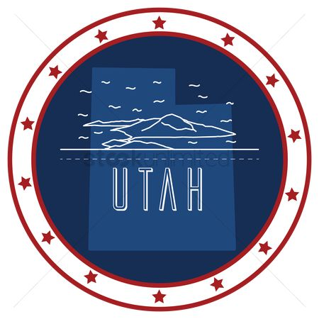 Utah map : Utah sticker