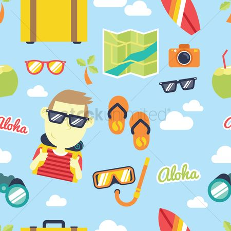 Slippers : Vacation theme background