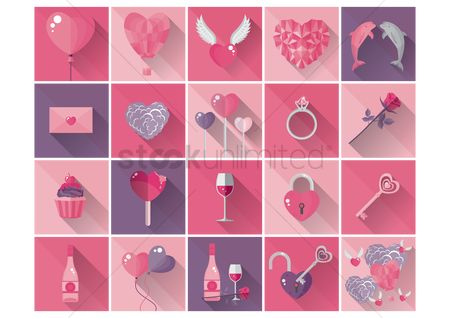 Heart shape : Valentine icons