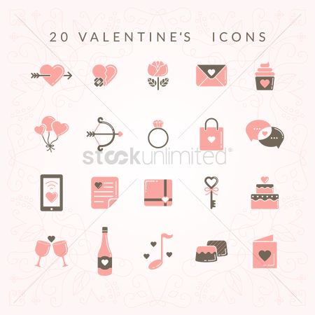 Love speech bubble : Valentines icons