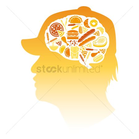 Hotdogs : Various food in brain