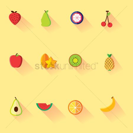 Watermelon : Various fruits icons