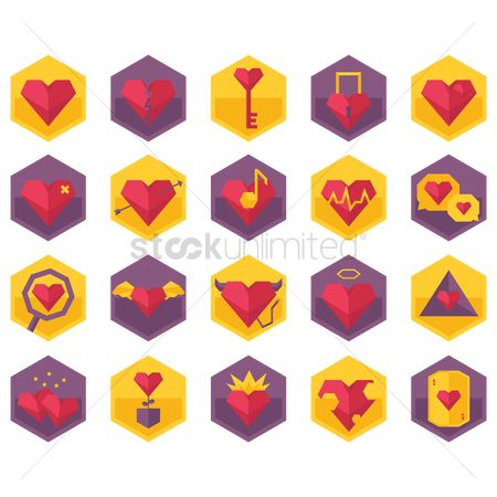 Devils : Various heart icons