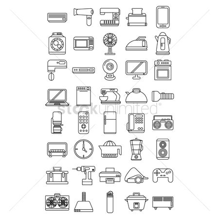 Appliances : Various home appliances and household items