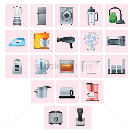 Appliance : Various home appliances