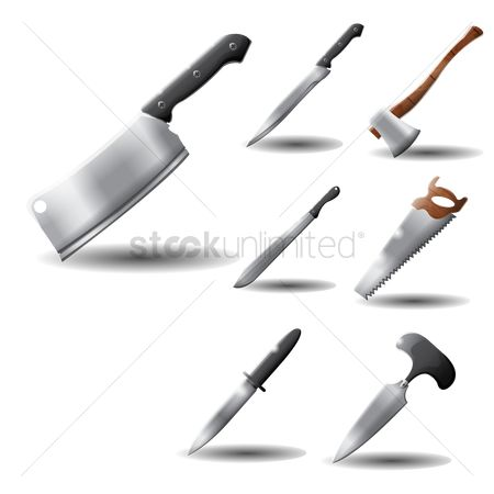 Hatchet : Various knives and weapons