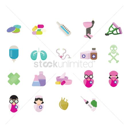 Surgeon : Various medical icons
