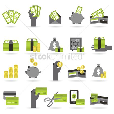 Piggy banks : Various money related images