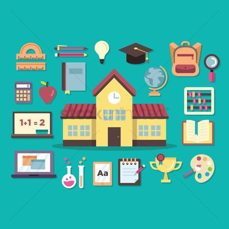 Palette : Various school related items