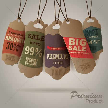 Retail : Various shopping labels