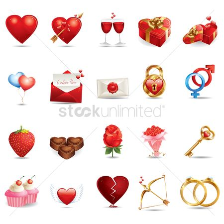 Boxes : Various valentine related items