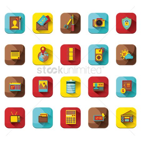 Address : Various web interface icons