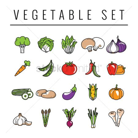 Fruit : Vegetables set