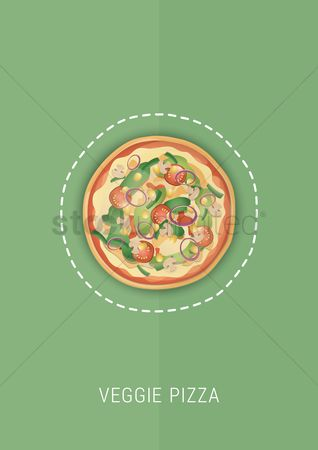 Greens : Veggie pizza design
