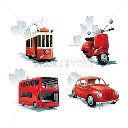 Transport : Vehicle icons collection