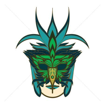 Headdress : Venice mask
