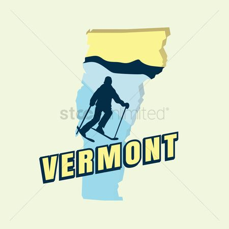 Skiing : Vermont map
