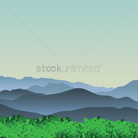 Hiking : View of the mountains